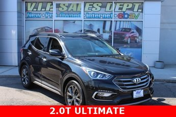 2017 Twilight Black Hyundai Santa Fe Sport 2.0T Ultimate SUV 2.0L I4 DGI DOHC 16V Turbocharged Engine 4 Door