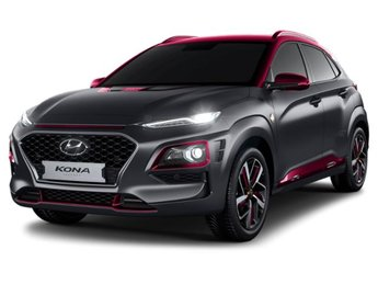 2019 Matte Grey w/Iron Man Red Roof Hyundai Kona Iron Man AWD Manual 1.6L 4-Cylinder Turbocharged Engine 4 Door SUV