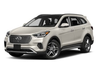2018 Monaco White Hyundai Santa Fe Limited Ultimate AWD 3.3L 6-Cylinder Engine 4 Door