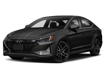 2019 Phantom Black Hyundai Elantra Sport Sedan 1.6L 4-Cylinder Turbocharged Engine Automatic 4 Door FWD