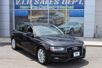 2015 Black Audi A4 Premium Plus Sedan AWD 2.0L 4-Cylinder TFSI DOHC Engine Automatic