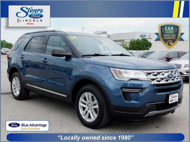 2019 Blue Metallic Ford Explorer XLT 4 Door Automatic 4X4 3.5L V6 Ti-VCT Engine SUV