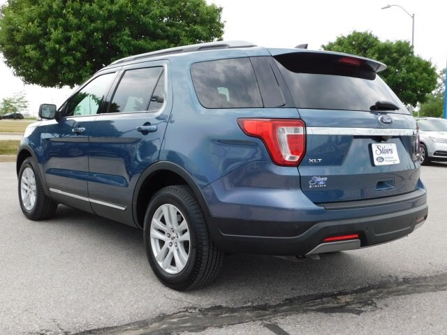 2019 Blue Metallic Ford Explorer XLT SUV 4X4 Automatic 4 Door 3.5L V6 Ti-VCT Engine