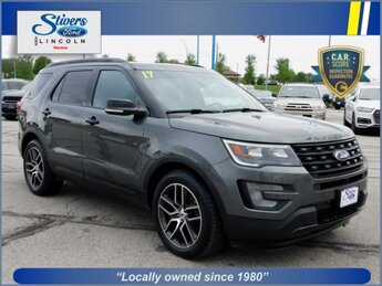 2017 Gray Ford Explorer Sport 3.5L V6 Engine 4X4 Automatic 4 Door
