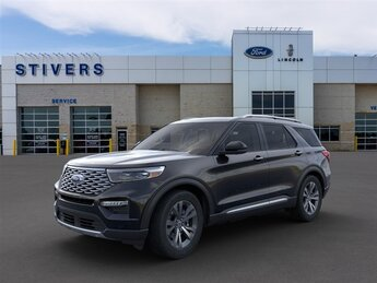 2020 Agate Black Metallic Ford Explorer Platinum 4 Door SUV V6 Engine