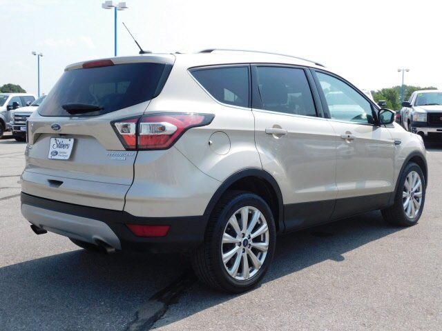 2017 White Gold Metallic Ford Escape Titanium EcoBoost 1.5L I4 GTDi DOHC Turbocharged VCT Engine Automatic FWD