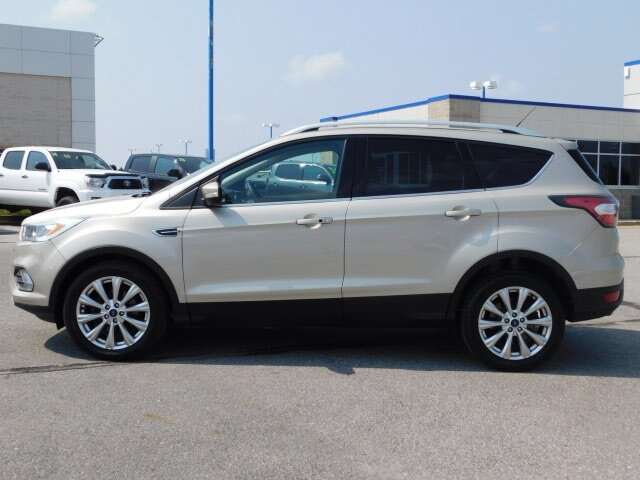 2017 White Gold Metallic Ford Escape Titanium Automatic EcoBoost 1.5L I4 GTDi DOHC Turbocharged VCT Engine SUV