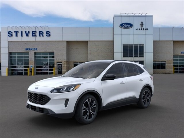 2021 Star White Metallic Tri-Coat Ford Escape SE Automatic 4 Door SUV AWD