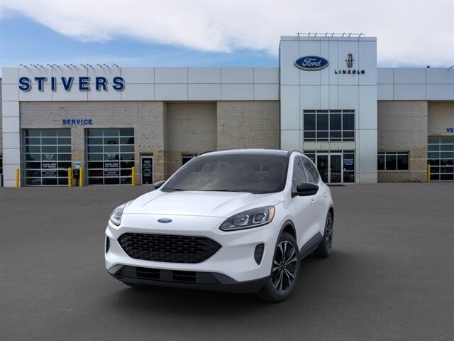 2021 Star White Metallic Tri-Coat Ford Escape SE 4 Door SUV AWD 1.5L EcoBoost Engine Automatic