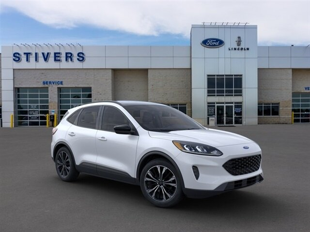 2021 Star White Metallic Tri-Coat Ford Escape SE AWD 1.5L EcoBoost Engine SUV 4 Door