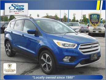 2018 Lightning Blue Metallic Ford Escape SEL 1.5L EcoBoost Engine Automatic 4X4 SUV
