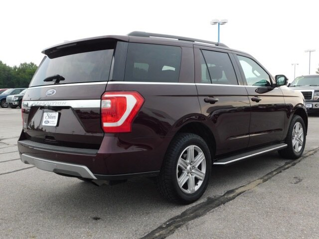 2020 Burgundy Velvet Metallic Tinted Clearcoat Ford Expedition XLT 4 Door Automatic SUV 4X4 EcoBoost 3.5L V6 GTDi DOHC 24V Twin Turbocharged Engine