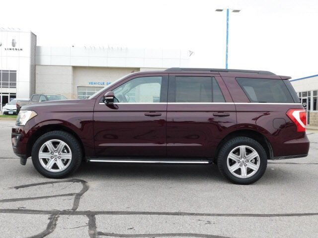 2020 Burgundy Velvet Metallic Tinted Clearcoat Ford Expedition XLT EcoBoost 3.5L V6 GTDi DOHC 24V Twin Turbocharged Engine 4 Door 4X4 Automatic