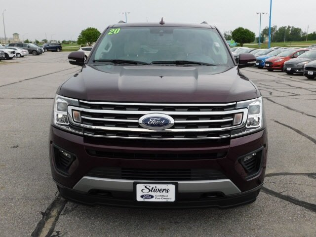 2020 Burgundy Velvet Metallic Tinted Clearcoat Ford Expedition XLT SUV 4 Door EcoBoost 3.5L V6 GTDi DOHC 24V Twin Turbocharged Engine 4X4