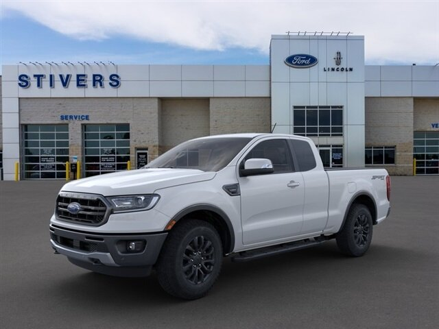 2021 Oxford White Ford Ranger Lariat EcoBoost 2.3L I4 GTDi DOHC Turbocharged VCT Engine Automatic Truck