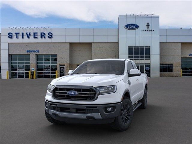 2021 Oxford White Ford Ranger Lariat Truck Automatic EcoBoost 2.3L I4 GTDi DOHC Turbocharged VCT Engine 4 Door 4X4
