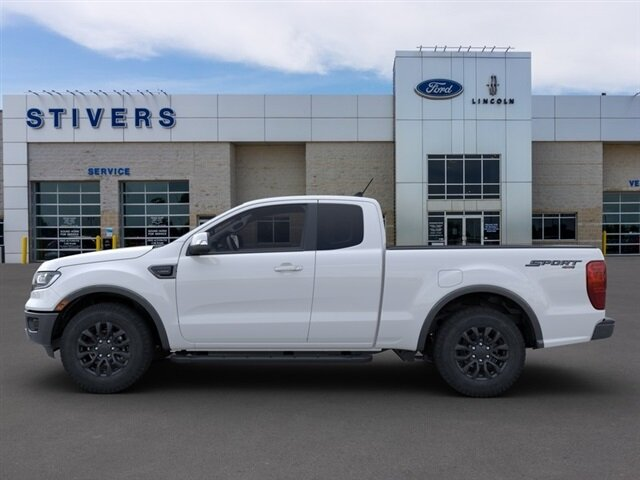 2021 Oxford White Ford Ranger Lariat 4 Door Truck EcoBoost 2.3L I4 GTDi DOHC Turbocharged VCT Engine 4X4 Automatic