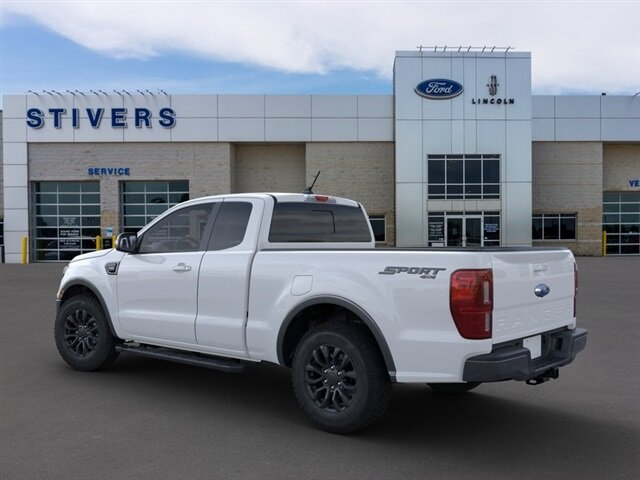 2021 Oxford White Ford Ranger Lariat Truck Automatic EcoBoost 2.3L I4 GTDi DOHC Turbocharged VCT Engine 4 Door