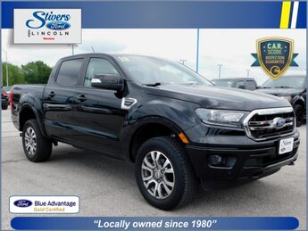 2019 Shadow Black Ford Ranger LARIAT EcoBoost 2.3L I4 GTDi DOHC Turbocharged VCT Engine Truck 4X4 Automatic 4 Door