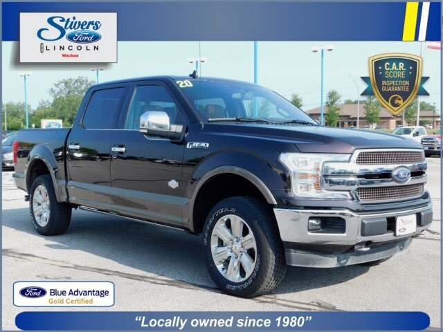 2020 Magma Red Metallic Ford F-150 King Ranch 4X4 4 Door Automatic EcoBoost 3.5L V6 GTDi DOHC 24V Twin Turbocharged Engine Truck