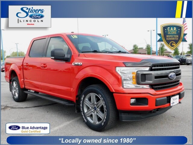 2018 Race Red Ford F-150 XLT 4 Door 4X4 EcoBoost 3.5L V6 GTDi DOHC 24V Twin Turbocharged Engine Automatic