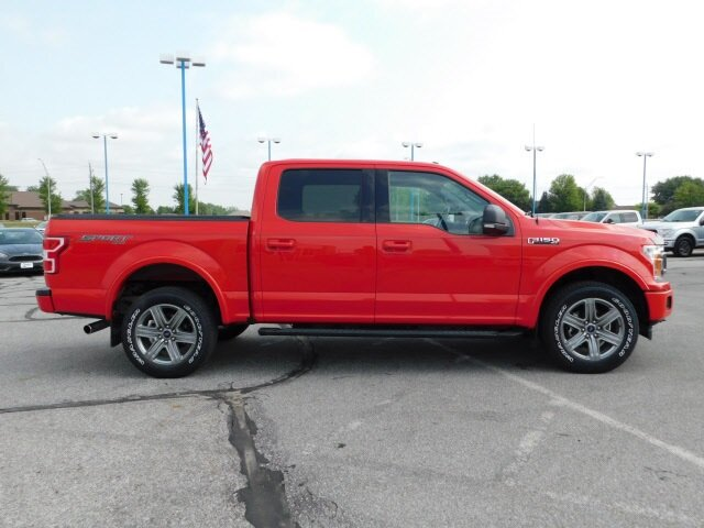 2018 Race Red Ford F-150 XLT 4X4 Truck EcoBoost 3.5L V6 GTDi DOHC 24V Twin Turbocharged Engine Automatic 4 Door
