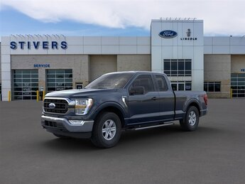 2021 Antimatter Blue Metallic Ford F-150 XLT Truck 4 Door Automatic 4X4 2.7L V6 EcoBoost Engine