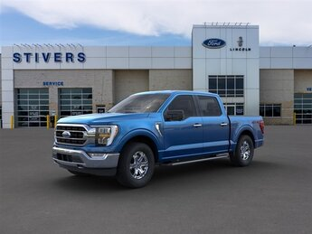2021 Velocity Blue Metallic Ford F-150 XLT Truck 3.5L V6 EcoBoost Engine 4X4 Automatic 4 Door