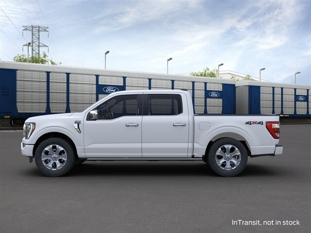 2021 Star White Metallic Tri-Coat Ford F-150 Platinum Automatic 4X4 3.5L PowerBoost Full-Hybrid V6 Engine 4 Door Truck