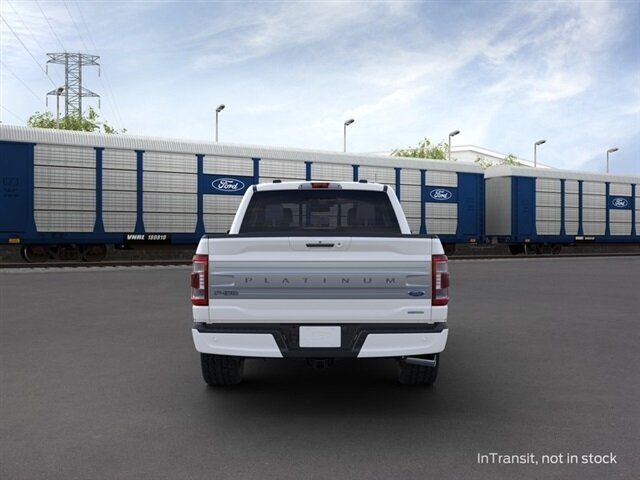 2021 Star White Metallic Tri-Coat Ford F-150 Platinum 3.5L PowerBoost Full-Hybrid V6 Engine Truck 4 Door
