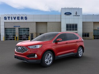 2020 Rapid Red Metallic Tinted Clearcoat Ford Edge SEL 4 Door EcoBoost 2.0L I4 GTDi DOHC Turbocharged VCT Engine Automatic