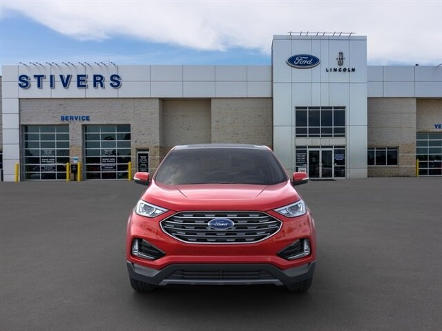 2020 Rapid Red Metallic Tinted Clearcoat Ford Edge SEL SUV EcoBoost 2.0L I4 GTDi DOHC Turbocharged VCT Engine Automatic