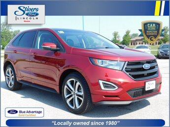2018 Ruby Red Metallic Tinted Clearcoat Ford Edge Sport SUV 4 Door Automatic