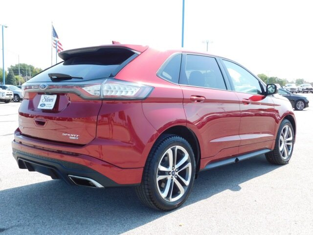 2018 Ruby Red Metallic Tinted Clearcoat Ford Edge Sport Automatic EcoBoost 2.7L V6 GTDi DOHC 24V Twin Turbocharged Engine 4 Door AWD