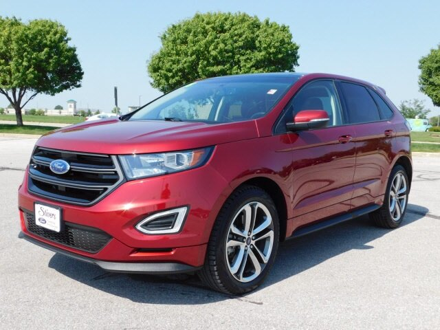 2018 Ruby Red Metallic Tinted Clearcoat Ford Edge Sport AWD 4 Door SUV Automatic