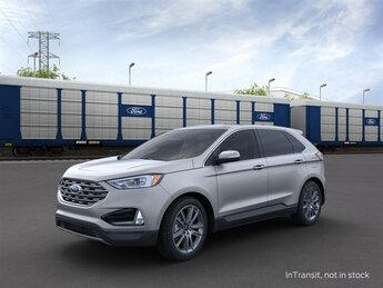 2021 Iconic Silver Metallic Ford Edge Titanium EcoBoost 2.0L I4 GTDi DOHC Turbocharged VCT Engine 4 Door Automatic SUV