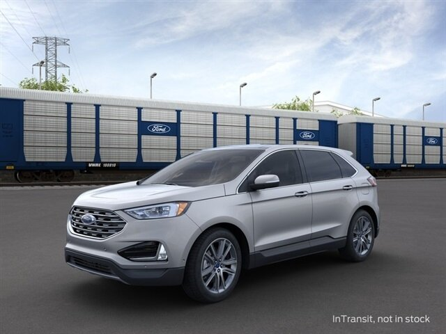 2021 Iconic Silver Metallic Ford Edge Titanium AWD 4 Door SUV