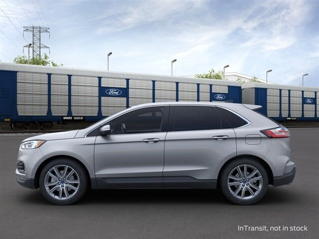 2021 Iconic Silver Metallic Ford Edge Titanium AWD SUV 4 Door Automatic EcoBoost 2.0L I4 GTDi DOHC Turbocharged VCT Engine
