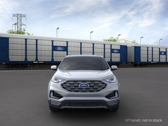 2021 Iconic Silver Metallic Ford Edge Titanium AWD Automatic EcoBoost 2.0L I4 GTDi DOHC Turbocharged VCT Engine 4 Door