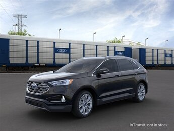 2021 Agate Black Metallic Ford Edge Titanium SUV 4 Door EcoBoost 2.0L I4 GTDi DOHC Turbocharged VCT Engine AWD Automatic