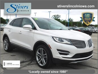 2018 White Platinum Metallic Tri-Coat Lincoln MKC Reserve 2.0L Turbocharged Engine 4 Door AWD