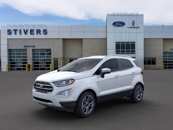 2021 White Platinum Metallic Tri-Coat Ford EcoSport Titanium SUV Automatic 4X4 4 Door