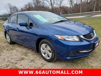 2015 Dyno Blue Pearl Honda Civic Sedan LX Regular Unleaded I-4 1.8 L/110 Engine Automatic (CVT) 4 Door FWD