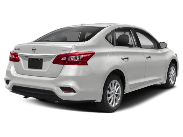 2019 Aspen White Tricoat Nissan Sentra SV 4 Door Regular Unleaded I-4 1.8 L/110 Engine Automatic (CVT) FWD Sedan