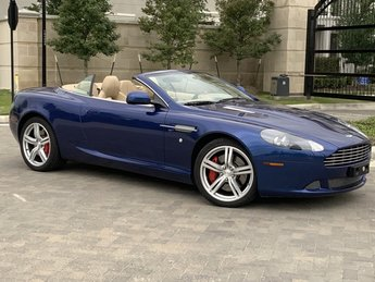 2011 Blue Aston Martin DB9 Volante Convertible Automatic 6.0L V12 DOHC Engine
