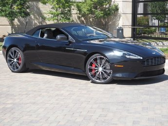 2014 Onyx Black Aston Martin DB9 Volante Automatic RWD Convertible 6.0L V12 DOHC Engine 2 Door