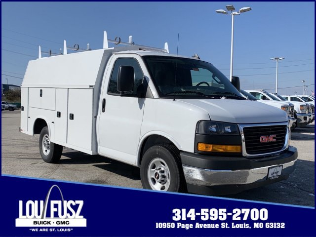 2019 Summit White GMC Savana Commercial Cutaway Work Van RWD Gas V8 6.0L/364 Engine 2 Door Automatic