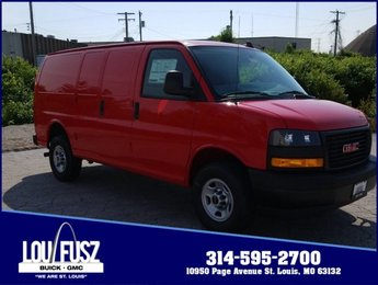 2019 Cardinal Red GMC Savana Cargo Van Work Van Automatic Gas V6 4.3L/ Engine RWD 3 Door Van